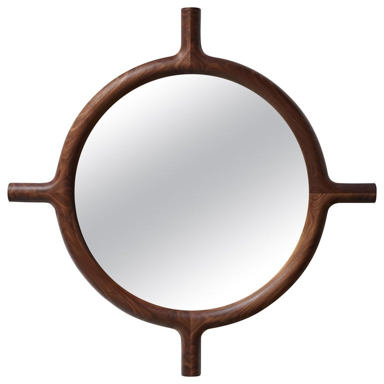 Ox Round Wall Mirror For Sale