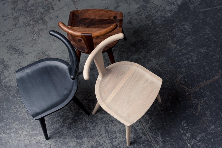 Hand-Crafted Oxbend Chair, Dining Seat in Walnut Wood by Fernweh Woodworking For Sale
