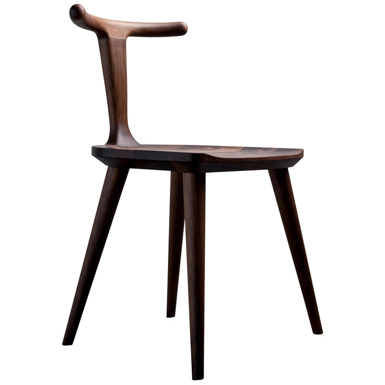 Oxbend Chair, Dining Seat in Walnut Wood by Fernweh Woodworking For Sale