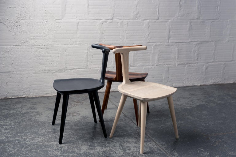 The original inspiration for the entire Oxbend collection, this modern dining chair was designed by Justin Nelson for Fernweh Woodworking. Born from a desire to create a dining chair that was comfortable, organic, and elegant in its simplicity, the