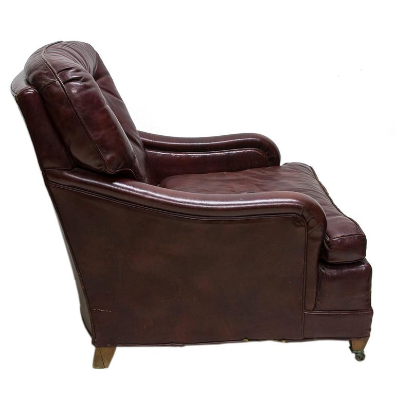 Chesterfield Oxblood Red Leather Club Chair For Sale