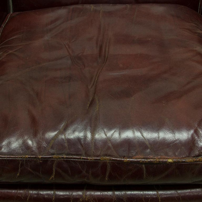 Oxblood Red Leather Club Chair For Sale 1