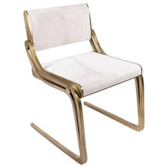 Oxford Chair Fur Upholstery & Bronze-Patina Brass by R&Y Augousti