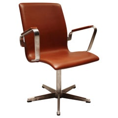 Oxford Classic Office Chair, Model 3271, by Arne Jacobsen and Fritz Hansen, 1988