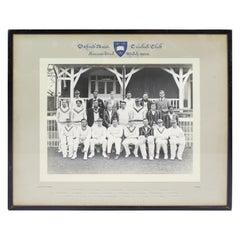 Oxford University Cricket Club 1938 Photograph