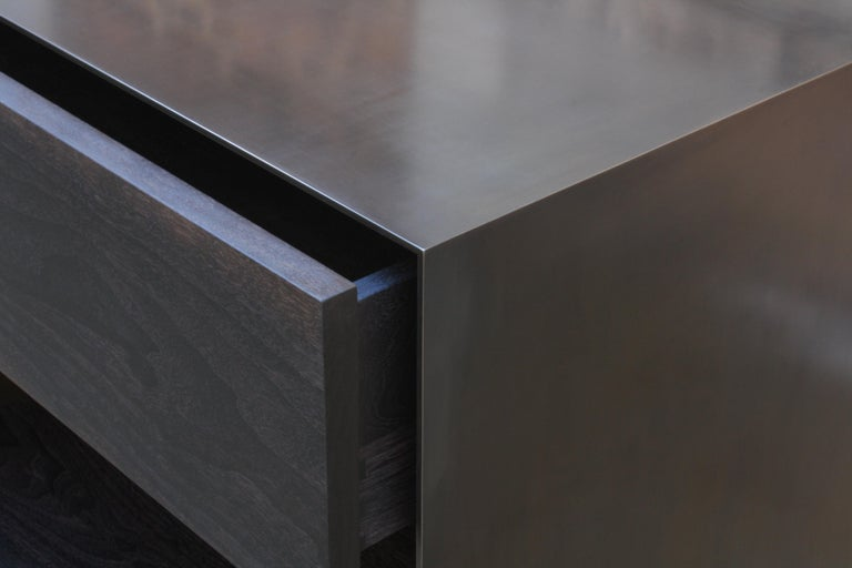 Oxide A Customizable Handmade Metal Side Cabinet or Nightstand by Laylo Studio 11