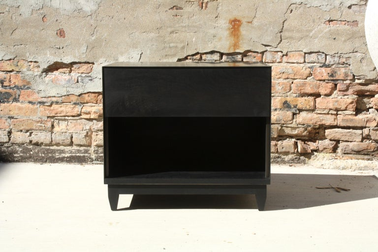 American Oxide A Customizable Handmade Metal Side Cabinet or Nightstand by Laylo Studio
