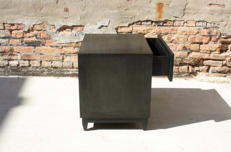 Oxide A Customizable Handmade Metal Side Cabinet or Nightstand by Laylo Studio In New Condition In Chicago, IL