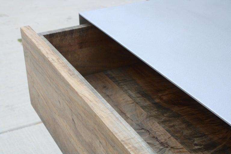 Walnut Oxide A Customizable Handmade Metal Side Cabinet or Nightstand by Laylo Studio