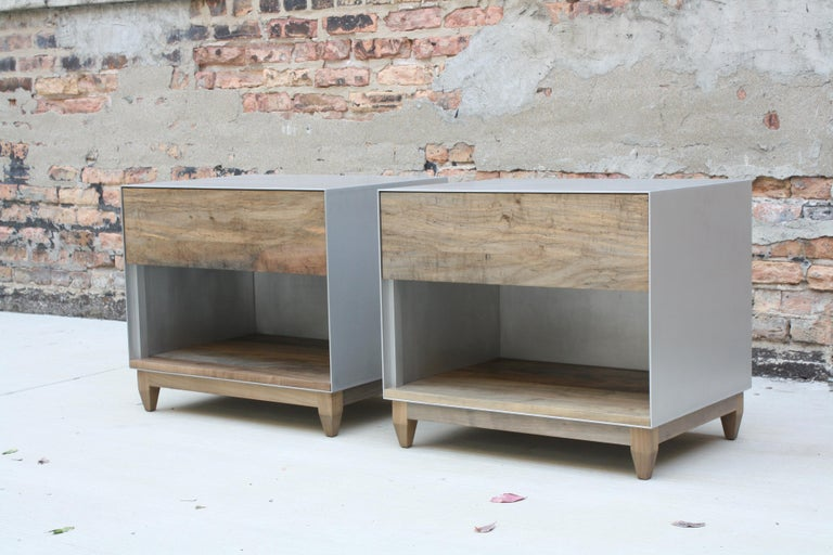 Oxide A Customizable Handmade Metal Side Cabinet or Nightstand by Laylo Studio 1
