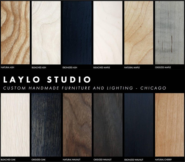 Oxide, Blackened Steel and Walnut Side Cabinets or Nightstands by Laylo Studio For Sale 6
