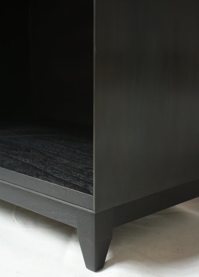 Oxide, Blackened Steel and Walnut Side Cabinets or Nightstands by Laylo Studio In New Condition For Sale In Chicago, IL