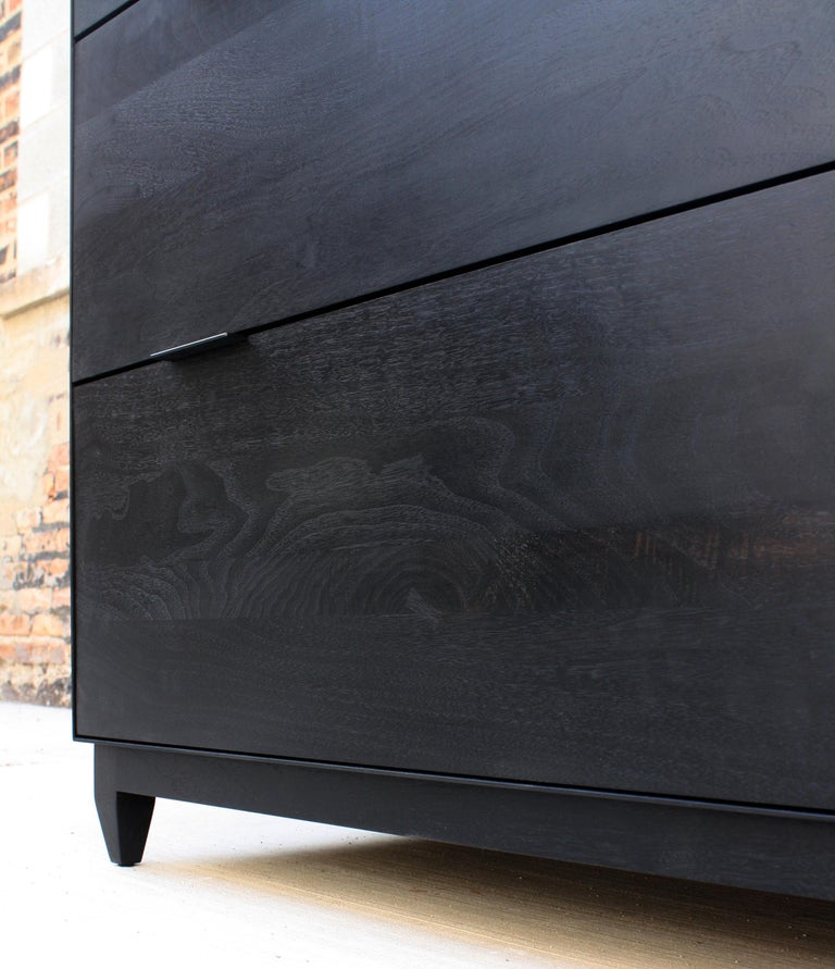 Contemporary Oxide Custom Handmade Metal and Wood Dresser or Chest of Drawers by Laylo Studio For Sale