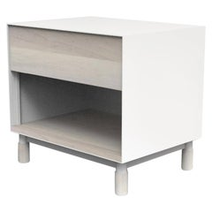 Oxide Custom Powdercoated Metal Side Nightstand Handmade by Laylo Studio