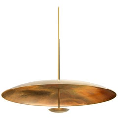 Oxidium Patinated Brass Pendant Patinated Light, Chandelier Ceiling Sculpture