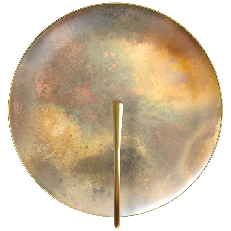 'Cosmic Oxidium' Mixed Colour Brass Patina Contemporary Wall Light, Sconce For Sale