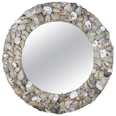 Oyster Bonanza, Unique Shell Mirror by Shellman Scandinavia, Sweden
