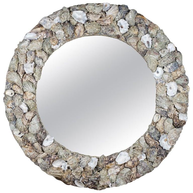 Oyster Bonanza, Unique Shell Mirror by Shellman Scandinavia, Sweden For Sale