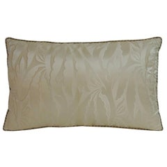 Oyster Color French Silk Deco Decorative Lumbar Pillow