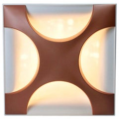 Oyster Flush Mounted Ceiling Light by Dieter Witte and Rolf Krüger for Staff