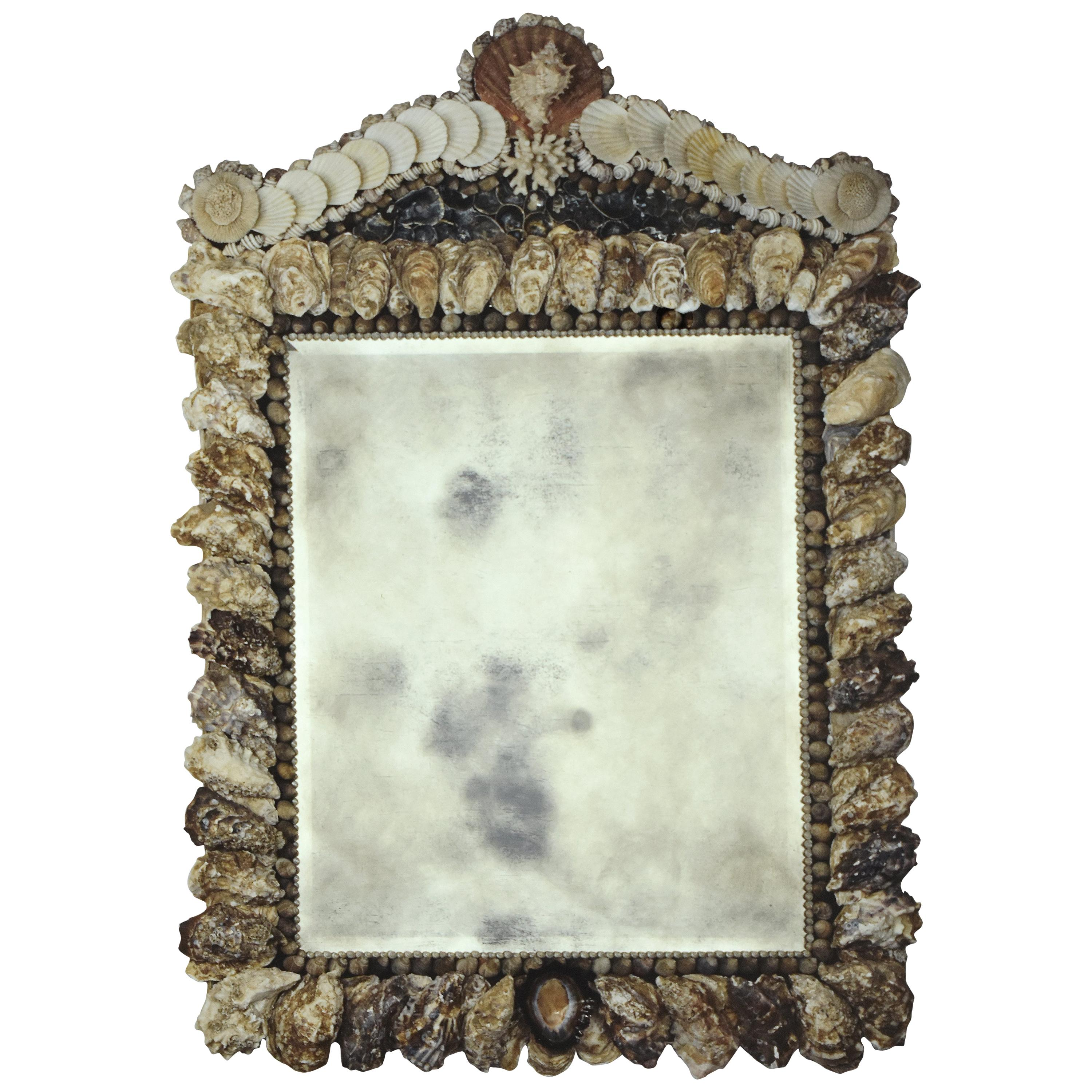 Oyster Shell Looking Glass Mirror