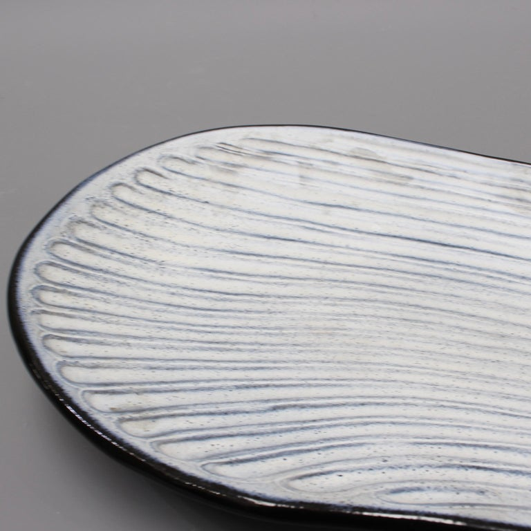 Oyster Shell Shaped Ceramic Tray by Marcel Guillot, circa 1960s For Sale 1