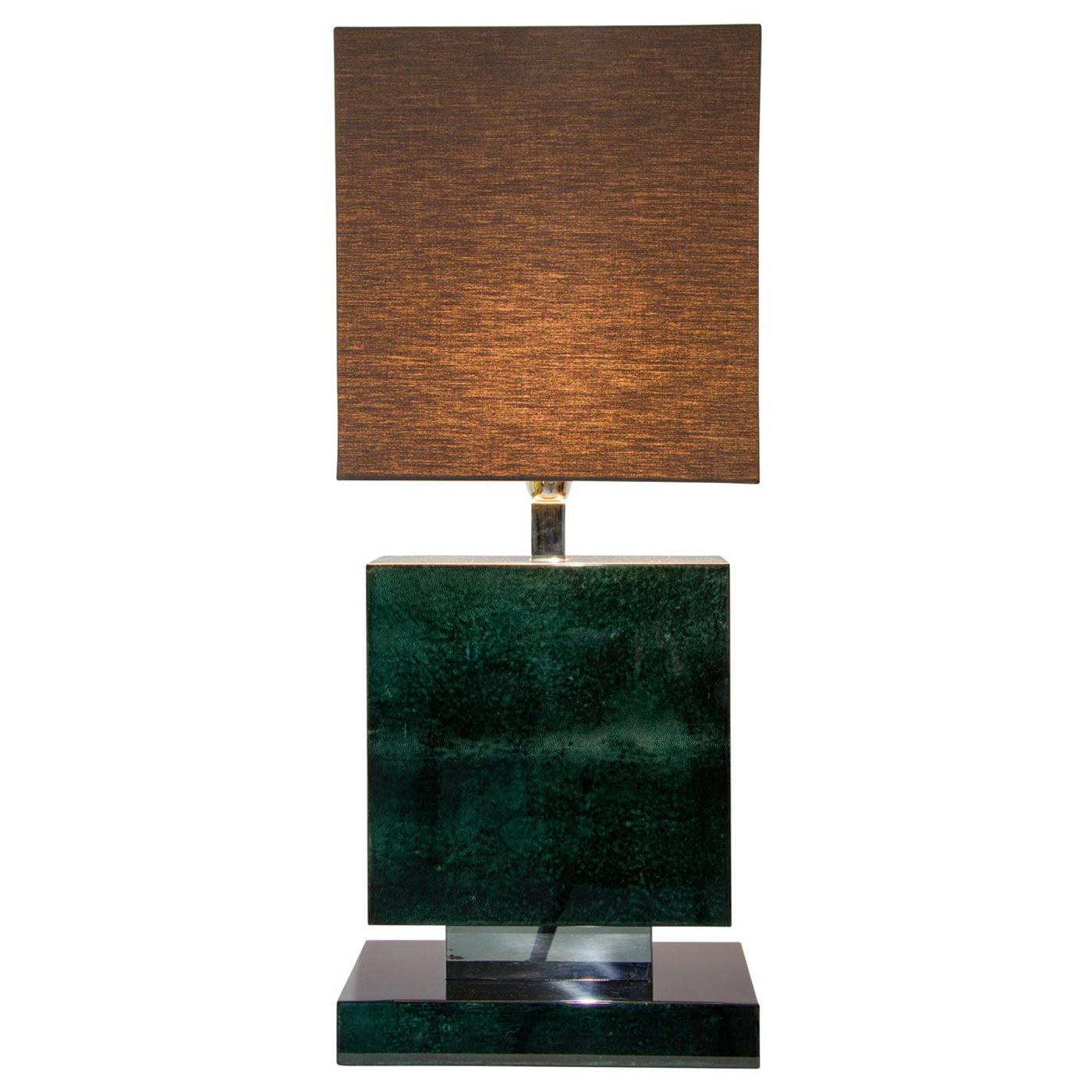 Oyster Table Lamp in Petrol