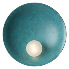 Oyster Wall-Ceiling Mounted Verdigris, Carla Baz