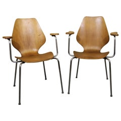 """Oyvind Iversen Molded Plywood """"City"""" Armchairs"""