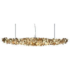 Ozone Linear Chandelier in Gold Anodized Aluminum by David D'Imperio