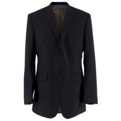 Ozwald Boateng Black Wool Blend Single Breasted Blazer - Size L 40 R, E 50