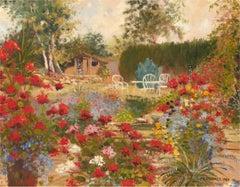 P. A. Hanmer - 1989 Oil, Summer Garden