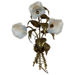 P. Mas-Rossi Leaves and Flowers Wall Sconce, circa 1950s