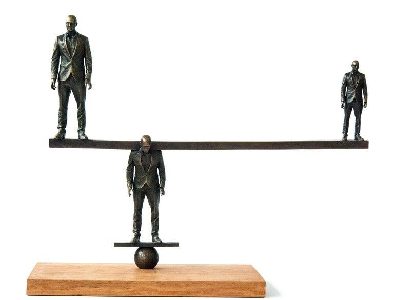 Roch Smith Figurative Sculpture - Counterpoise