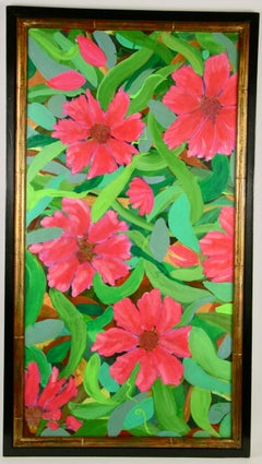 Impressionist  Large Tropical Flower Painting