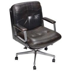 P128 Office Chair by Osvaldo Borsani for Tecno, Italy, circa 1970s