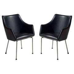 P20 Osvaldo Borsani for Tecno 1955 Mid-Century Modern Pair of Chairs
