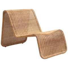 P3 Rattan Easy Chair by Tito Agnoli