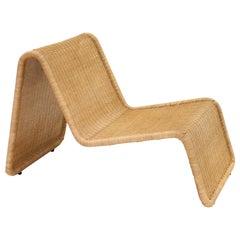 P3 Rattan Wicker 'New Wicker' Chair by Tito Agnoli for Bonacina, 1960s, Italy