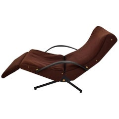 P40 Chaise Lounge Chair by Osvaldo Borsani in Brown by Tecno of Italy
