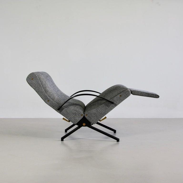 Italian P40 Osvaldo Borsani, Reclining Lounge Chair, 1st Edition For Sale