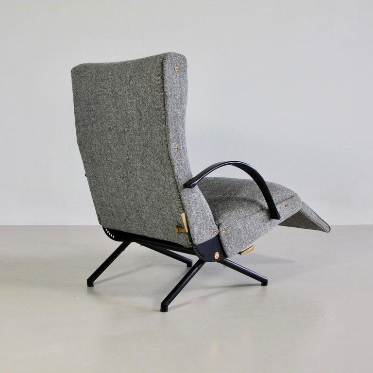 Mid-20th Century P40 Osvaldo Borsani, Reclining Lounge Chair, 1st Edition For Sale