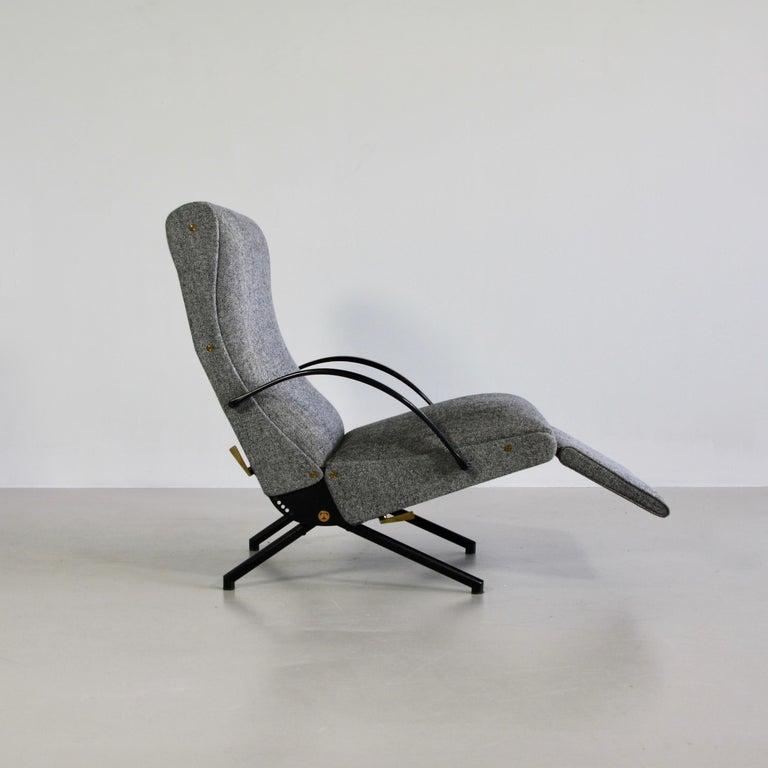 Metal P40 Osvaldo Borsani, Reclining Lounge Chair, 1st Edition For Sale