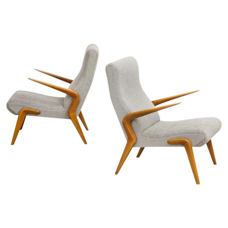 Osvaldo Borsani P71 Lounge Chairs