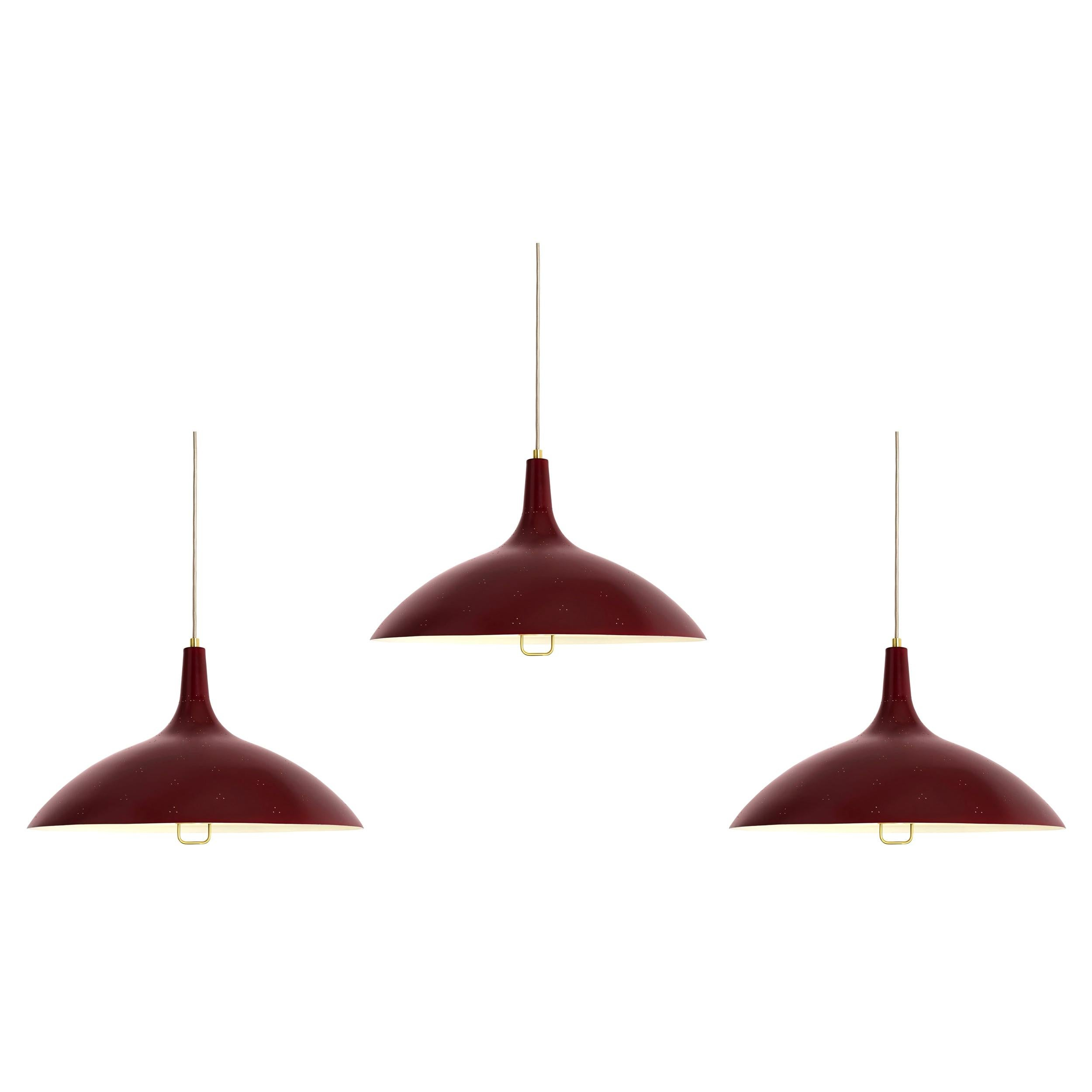 Paavo Tynell '1965' Pendant Lamp in Red for GUBI