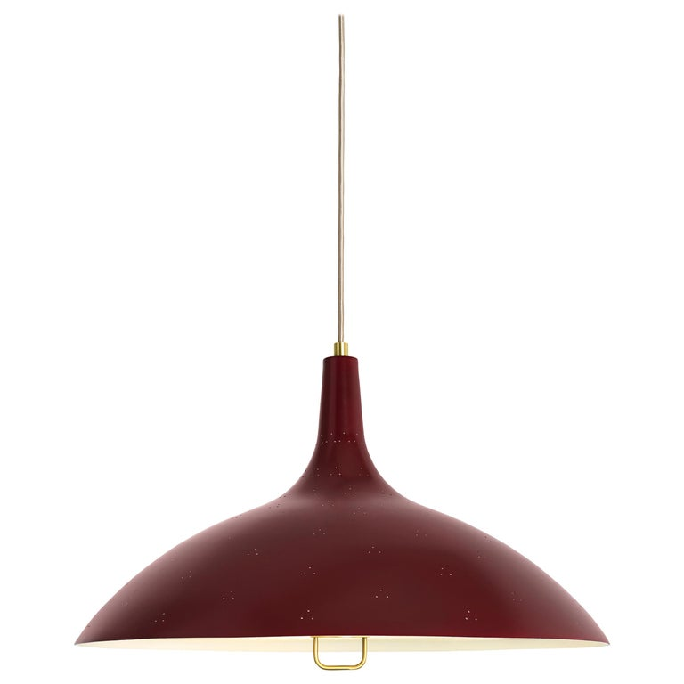 Paavo Tynell 1965 pendant lamp, new, designed in 1947, offered by Two Enlighten Los Angeles