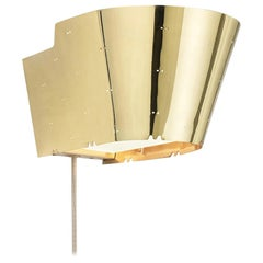 Paavo Tynell '9464' Perforated Brass and Glass Wall Light