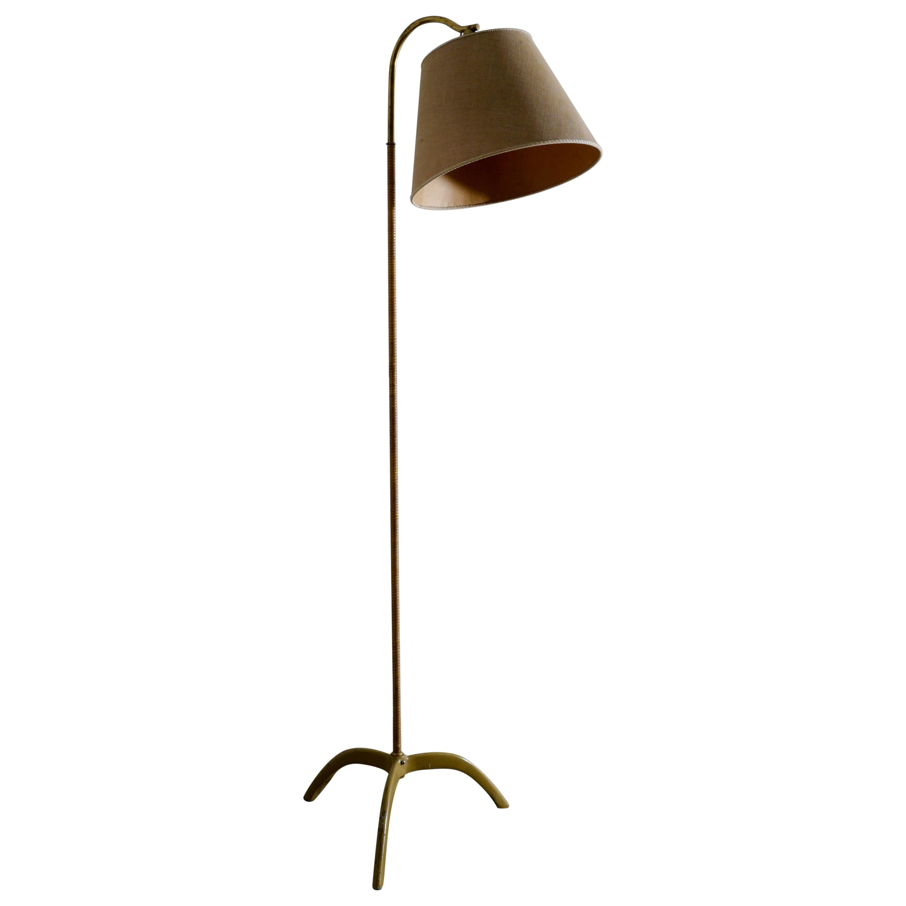 """Paavo Tynell """"9609"""" Floor Lamp Produced by Taito Oy, Finland, 1940s"""