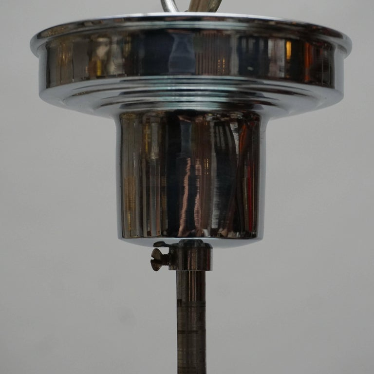 Paavo Tynell Art Deco Pendant Light in Glass for Taito Oy, 1940s For Sale 4