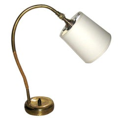 Paavo Tynell Brass and Cane Desk Lamp